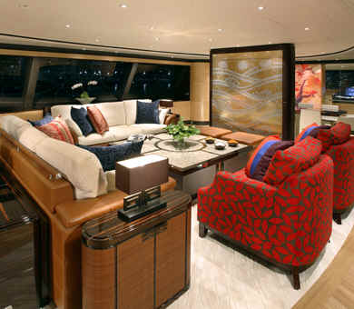 Sailing Yacht Q main salon