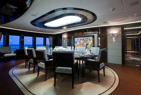 Yacht Excellence V dining room
