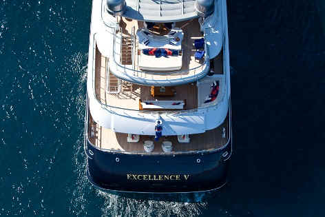 Yacht Excellence V aerial